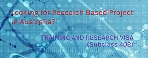 Training & Research Visa